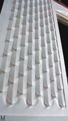 Sculptural wall tiles