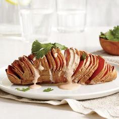 baked sweet potato: Turn it into a gorgeous hasselback sweet potato ...