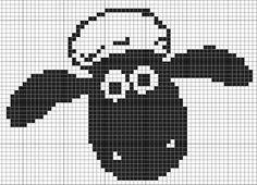 Shaun the sheep x stitch pattern!!!