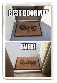 Fridge Magnet Door Mat Doormat Outdoor External Welcome Come In Go Away Sign