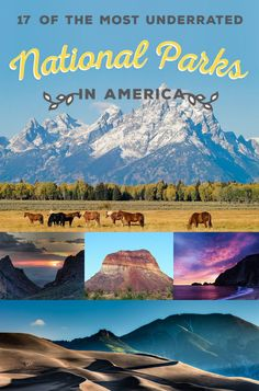 Of The Most Underrated National Parks In America * m. 17 Of The Most Underrated National Parks In America -* m. 17 Of The Most Underrated National Parks In America - American National Parks, Us National Parks, Nationalparks Usa, Places To Travel, Places To Visit, Travel Destinations, Monument Valley, Parque Natural, Equador