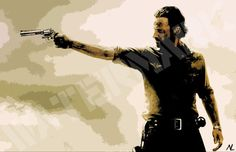 The Walking Dead Rick Grimes Pop Art Poster Print by NLopezArt