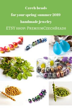 Czech glass beads Jewelry findings Beading Supplies by PremiumCzechBeads Handmade Items, Handmade Jewelry, Artisan Jewelry, Handmade Gifts, Etsy Handmade, Crochet Scarf For Beginners, Crochet Headband Pattern, Gifts For Mum, Beading Supplies
