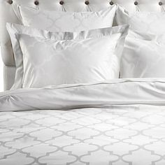 Love! And it would match all the paint in the room. Z Gallerie - Mimosa Bedding - White Jacquard