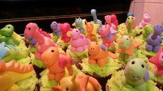 Dinosaur cupcakes vir MJ se 5de verjaardag!!