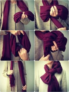 how to tie a scarf to look like a bow