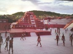 Here are some photos of El Tajin in Papantla, Veracruz, Mexico. El Tajin was built by the Totonacos, an Indigenous group from Puebla and Veracruz (who still exist today, along with the culture, language, traditions and customs). El Tajin was once the center of a huge Totonaco empire from 600 to 1200 A.D.  The last two photos show of what El Tajin looked like thousands of years ago. Back then, El Tajin was painted white with red trim, but the paint had faded over thousands of years.  I am goi