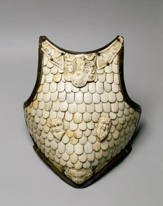 Cuirass breastplate  Italy. Late 16th century  Steel, bone, wrought and carved, h 42 cm