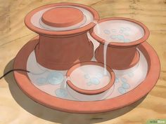 How to Make a Water Fountain. Water fountains are the perfect way to add a little Zen to your home, bringing beauty, calm, and nature to your doorstep. In this wikiHow you'll find three fountain designs, all of which can work indoors or. Small Indoor Water Fountains, Outside Fountains, Small Water Fountain, Water Fountain Design, Diy Garden Fountains, Indoor Water Garden, Diy Fountain, Tabletop Fountain, Indoor Fountain