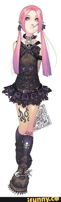 #goth, #anime, #gothgirls, #cute