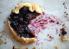 Black and Blueberry Tart by Bakerella