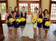 Bridesmaids selected their own Lilly Pulitzer dresses