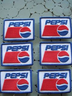 1980's Mint Pepsi Cola Patches 10 Pieces in Collectibles, Advertising, Soda | eBay!
