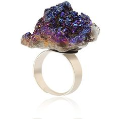 Yoins Fashion Crystal Cluster Ring (€5,63) ❤ liked on Polyvore featuring jewelry, rings, accessories and black