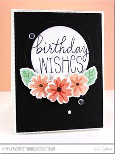Birthday Wishes & Balloons, Modern Blooms, Modern Blooms Die-namics - Jodi Collins  #mftstamps