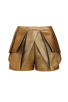 THE LITERARY HERO - cropped tailored fitted shorts with pleated bustle. origami