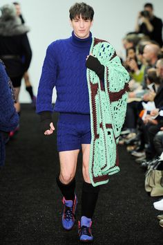 OK i just want the blanket really.  Sibling | Fall 2014 Menswear Collection | Style.com