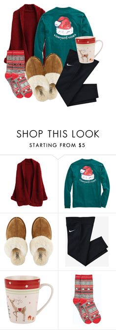 """Christmas morning outfit"" by emmaaagildea on Polyvore featuring UGG Australia, NIKE, Spode and Boohoo"