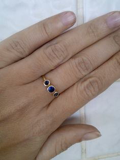 30 off  SALE Sapphire ring stackable ring by KarelliLuxuryJewelry, ₪159.00