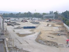 Vista del área de estacionamiento exterior.