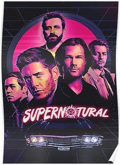 - 'Supernatural' Poster by BobbysIdjit Supernatural Imagines, Supernatural Destiel, Castiel, Supernatural Series, Supernatural Poster, Supernatural Drawings, Supernatural Pictures, Supernatural Wallpaper, Best Supernatural Quotes