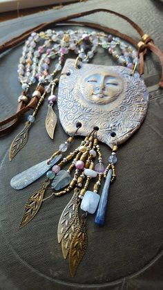 ❥ Necklace by Lynn Ferro~ love the colors and fringes.
