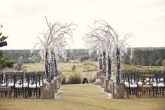 Outdoor wintery wedding aisle in FL. Photography by photographybymichael.com/, Cinematography by voilacinematic.com