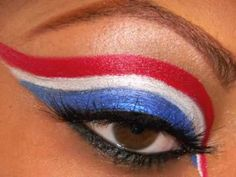 Patriotic Makeup! 'Merica Day Makeup HoCo week 2013 ;)