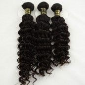 10 Inch - 30 Inch Natural Black (#1B) Deep Wavy 3pcs/lot Mix Length Unprocessed Virgin Brazilian Remy Hair Bundles 300g