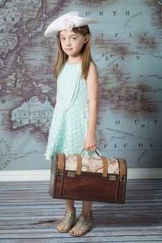 Show off your jetsetter style with this Vintage Map Backdrop from Backdrop Express.