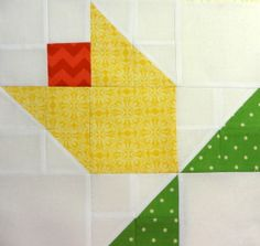 block from Bev's triangle quilt