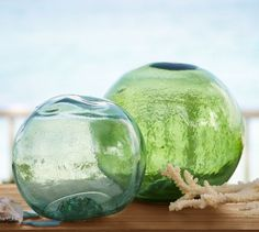 PB Found Glass Buoys | Pottery Barn #PBPINS