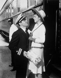 "Dana Andrews & Anne Baxter in ""Crash Dive""   (1943)"