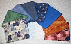 Vintage Fabric Fat Quarter Sampler Edna by CurlicueCreations, $8.00