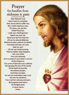 Prayers for healing Prayer Scriptures, Faith Prayer, God Prayer, Prayer Quotes, Salvation Prayer, Prayer Cards, Novena Prayers, Bible Prayers, Catholic Prayers Daily