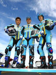 Rizla+ Suzuki photoshoot: Kousuke Akiyoshi, Loris Capirossi e Chris Vermeulen