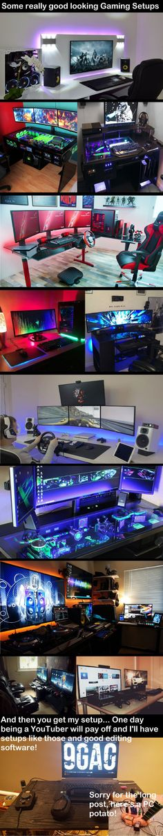 A few amazing gaming setups! NSFW for gamers!