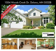 Price Just Reduced on this large 5 Bedroom home in Delano!! Desirable Woods Creek Neighborhood. Excellent Delano School District. Oak cabinets & granite counter tops. Main level great entertaining. Freshly painted interior. Spacious layout. Formal LR&DR, Family rm w/gas fireplace. Large screen porch, easy access to hwy 12. Close to great parks and MORE!!