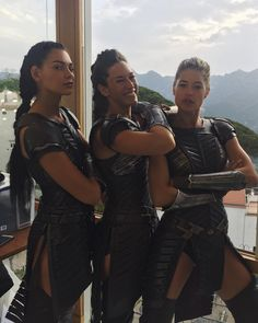 "623 Likes, 18 Comments - Caitlin Burles (@caitlinburles) on Instagram: ""Girl band vibes  #queensguards #amazons #wonderwoman"""