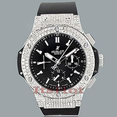 $19,995 - Hublot Big Bang Custom 8.25ct Diamond Luxury Watch, this is a one of a kind and unique luxury watch. When Carlo Crocco presented the first Hublot watch at the 1980 Basel watch fair, not a single person ordered one. But perseverance paid off and Hublot watches quickly gained popularity due to their high quality and excellent craftsmanship. Today Hublot is a top international luxury watch brand, and the official timekeeper of Ferrari. Read more http://en.wikipedia.org/wiki/Hublot