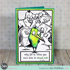Crazy In Love With Bird Crazy? This DIY Card Is For You!