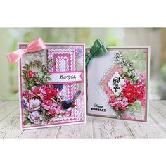 Tattered Lace Picture Decoupage Collection - Extended (516374) | Create and Craft Tattered Lace Cards, Center Signs, Create And Craft, Carnations, Are You Happy, Card Ideas, Decoupage, Projects To Try, Happy Birthday