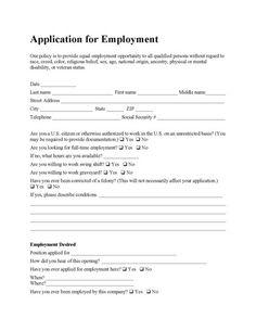 restaurant job application form template .