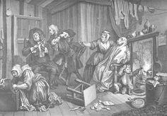 A Harlot's Progress, plate V - William Hogarth