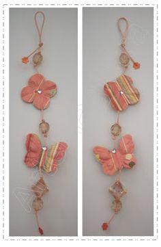 Móbile flor + borboleta. ArteMagistra.com.br