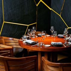 The perfect setting for lunch or dinner. Novikov Asian