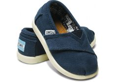 TOMS for my boy - thinking I'll get these as his first 'walking' shoes :)