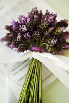 A lavender bouquet will smell good all day long and keep longer than flowers.
