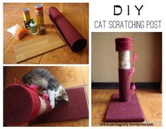 diy cat scratch | DIY Cat Scratching Post | santiagodiy