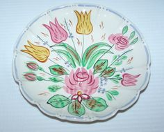 Image detail for -Blue Ridge Southern Pottery Nove Rose Dot Dash Plate | eBay